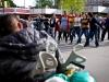Flashmob. Széll Kálmán tér, Budapest.