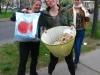 Aninka, Caro, Christine and art supplies! April 19, 2012.