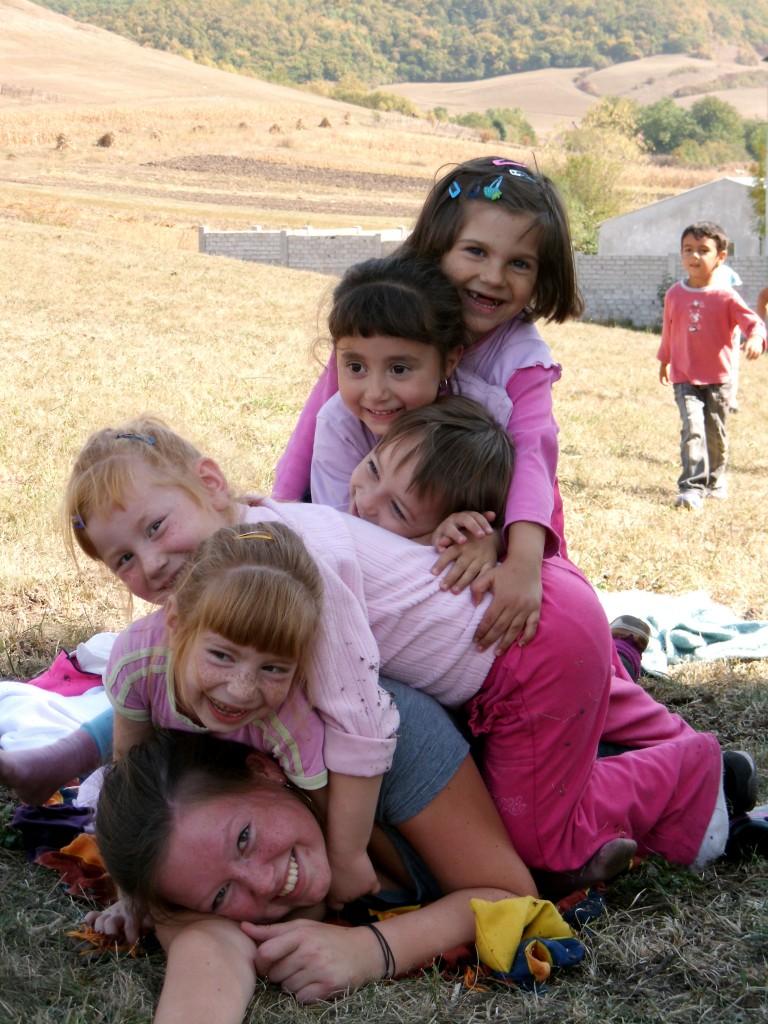 Caro and the kids!