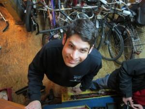 Attila at the Bike Shop